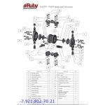 Мембранный пневматический насос AlphaDynamic RUBY 015P-P-TPT-F