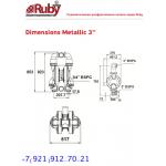 Мембранный пневматический насос AlphaDynamic RUBY 080A-P-TAT-T