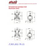 Мембранный пневматический насос AlphaDynamic RUBY 125A-P-TVT-T