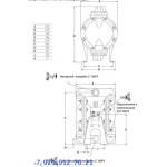 Мембранный пневматический насос 666170-344-C