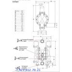 Мембранный пневматический насос 666320-EEB-C