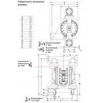 Мембранный пневматический насос ARO PD20P-FPS-PAA