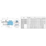 Горизонтальный многоступенчатый насос Calpeda MXH-1600
