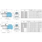 Моноблочный многоступенчатый насос MXH/MXHL-800