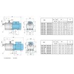 Горизонтальный многоступенчатый насос Calpeda MXH/MXHL-200