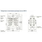 Мембранный пневматический насос MK15PP-AL/ST/ST/SS